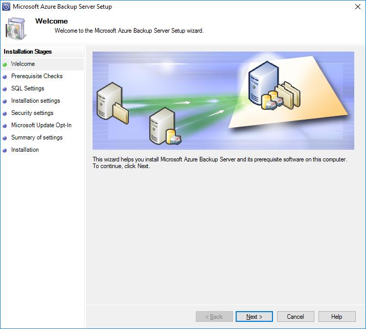 Microsoft Azure Backup Server Setup