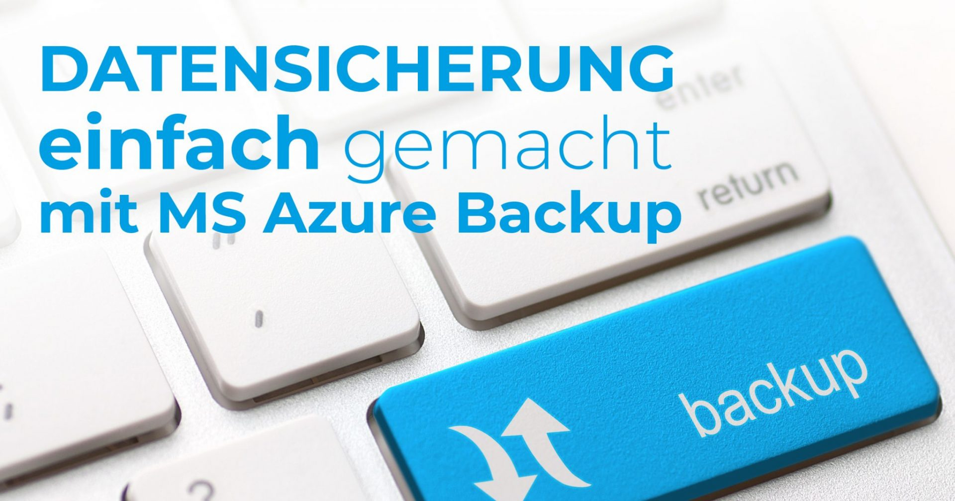 Microsoft Azure Backup Datensicherung
