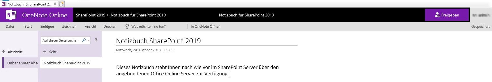 OneNote SharePoint 2019