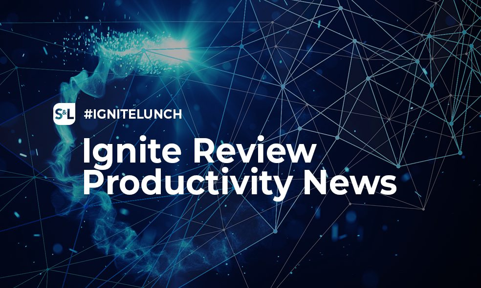 Die Highlights des Productivity Ignite Lunch am 25.10.2018