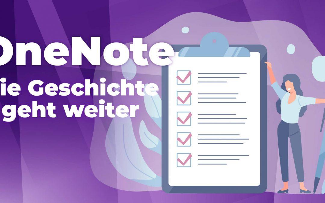 OneNote – Die Geschichte geht weiter